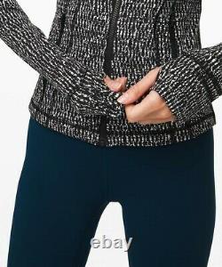 NEW LULULEMON Define Jacket 10 12 Knotted Jacquard Black White FREE SHIP