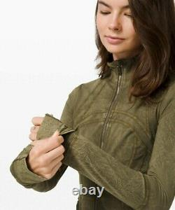 NEW LULULEMON Define Jacket 12 14 Ice Wash Moss Green FREE SHIP