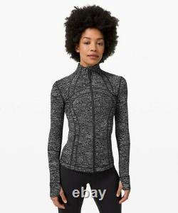 NEW LULULEMON Define Jacket 12 Digital Rain Jacquard Black White FREE SHIP