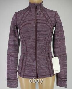 NEW LULULEMON Define Jacket 12 Edged Stripe Jacquard Blueprint Royal Ruby