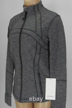 NEW LULULEMON Define Jacket 12 Luon Variegated Knit Heathered Black FREE SHIP