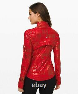 NEW LULULEMON Define Jacket 2 4 6 8 20YR Manifesto Foil Dark Red FREE SHIP
