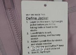 NEW LULULEMON Define Jacket 4 6 8 10 12 Antoinette FREE SHIP