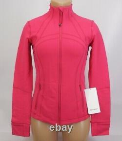 NEW LULULEMON Define Jacket 4 6 8 10 12 Calypso Pink FREE SHIP