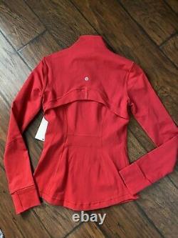 NEW LULULEMON Define Jacket 4 Dark Red