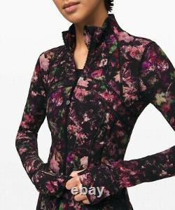 NEW LULULEMON Define Jacket 4 Floral Illusion Antique White Fullux FREE SHIP