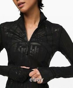 NEW LULULEMON Define Jacket 6 20YR Manifesto Foil Black FREE SHIP