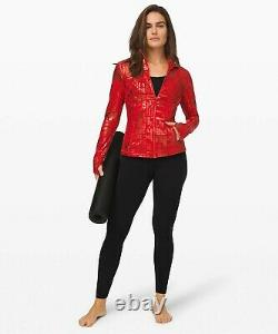 NEW LULULEMON Define Jacket 6 20YR Manifesto Foil Dark Red FREE SHIP