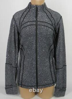 NEW LULULEMON Define Jacket 6 8 10 Luminesce Splatter White Black FREE SHIP