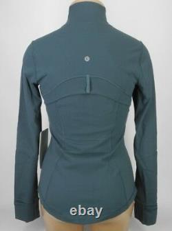 NEW LULULEMON Define Jacket 8 10 12 Teal Shadow FREE SHIP