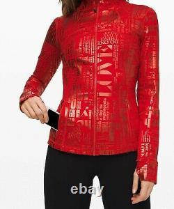 NEW LULULEMON Define Jacket 8 20YR Manifesto Foil Dark Red FREE SHIP