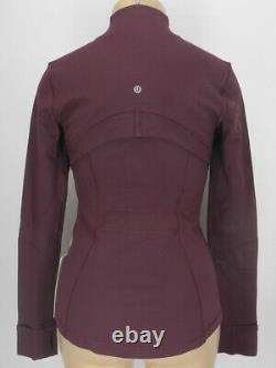 NEW LULULEMON Define Jacket Brushed 12 Dark Adobe FREE SHIP