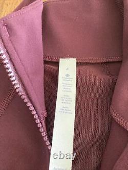 NEW LULULEMON Define Jacket Dark Adobe 1st Release Maroon Red NWT RARE