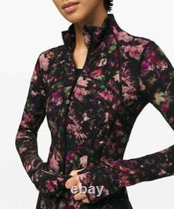 NEW LULULEMON Define Jacket Floral Illusion Antique White Fullux SIZE4