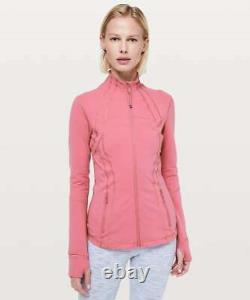 NEW LULULEMON Define Jacket Luon Size 4 Cherry Tint Pink NWT