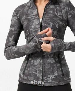 NEW LULULEMON Define Jacket Rulu 4 8 Incognito Camo HTR Black FREE SHIP