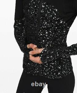 NEW LULULEMON Define Jacket Speckle Shine 4 Black Deep Coal Silver FREE SHIP