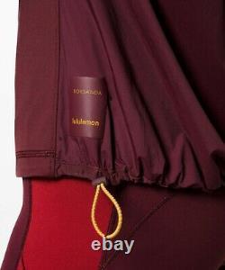 NEW LULULEMON ROKSANDA Face Forward Define Jacket 2 Garnet Caliente FREE SHIP