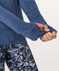 NEW LULULEMON Soft Nulu RARE Contour Jacket Size 4 Mineral Blue Full Zip NWT