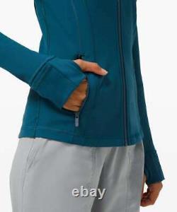 NEW Lululemon Women Define Jacket Luon Blue Borealis Size8