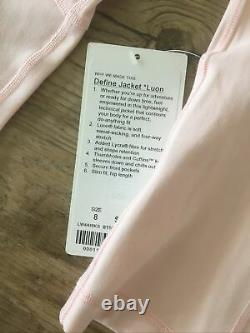 NEW NWT Lululemon Define Jacket Luon Ballet Slipper Pink Size 8