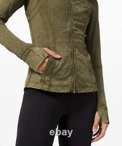 NEW Women Lululemon Define Jacket Ice Dye Nulux Ice Wash Moss Green Size 12