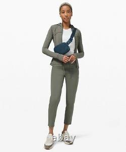 NEW Women Lululemon Hooded Define Jacket Nulu Heathered Army Green Size 8