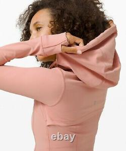 NEW Women Lululemon Hooded Define Jacket Nulu Pink Pastel Size 12