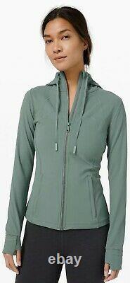 NEW Women Lululemon Hooded Define Jacket Nulu Tidewater Teal Size 10