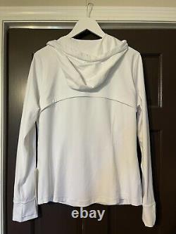 NEW Women Lululemon Hooded Define Jacket Nulu White Size 16 NWT New Full Zip