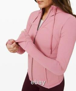 NEW Women Lululemon Hooded Define Jacket Size10 Nulu Pink Taupe