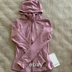 NEW Women Lululemon Hooded Define Jacket Size6 Nulu Pink Taupe