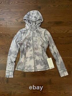 NEW lululemon hooded define jacket Diamond Dye Stargaze Pitch Grey size 8