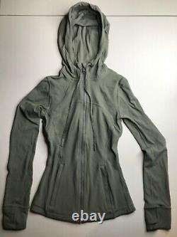 NWOT Lululemon Hooded Define Jacket Nulu Grey Sage SIZE 0