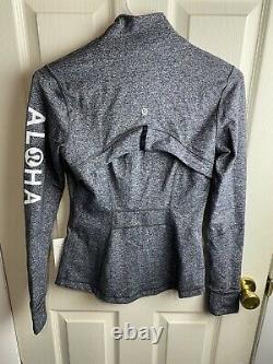 NWT ALOHA Lululemon Define Jacket Luon Size 4 HAWAII EDITION DECAL IRON ON
