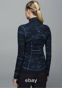 NWT! LULULEMON Define Jacket 8 Heathered Texture Lotus Camo Oil Slick Blue