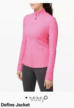 NWT LULULEMON Define Jacket Luon Size4 Dark Prism Pink