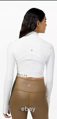 NWT Lululemon Define Cropped Jacket White Gold Special Edition Sold Out! Size 10