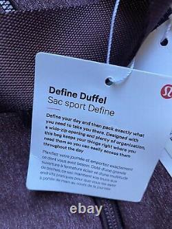 NWT Lululemon Define Duffel 31L Heathered Cassis