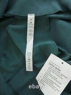 NWT Lululemon Define Jacket 4 Teal Shadow Running Yoga Athleisure