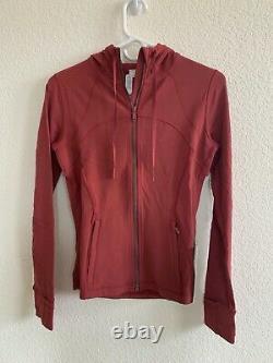 NWT Lululemon Define Jacket Hooded Chianti Size 6