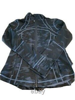 NWT Lululemon Define Jacket In Heathered Texture Lotus Camo Oil Slick Sz 8