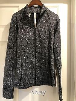 NWT Lululemon Define Jacket Luminesce Splatter White Black LMSP Size 10
