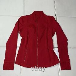 NWT Lululemon Define Jacket Luon Size 10, Dark Red DKRD