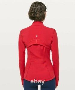 NWT Lululemon Define Jacket Luon Size 6, Dark Red DKRD -50020