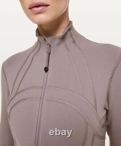 NWT Lululemon Define Jacket Luon Size 8, Lunar Rock LNRR Gray Lavender