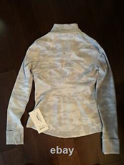 NWT Lululemon Define Jacket Lux Jacquard PTMN Jacket Sz 6 White Camo