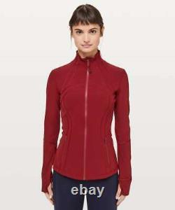 NWT Lululemon Define Jacket Luxtreme Dark Sport Red LW4AWTS DKSR Size 4