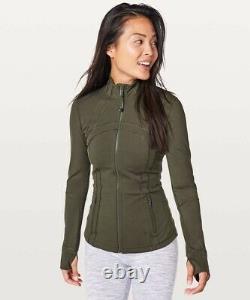 NWT Lululemon Define Jacket Nulux Size 6, Dark Olive DKOV