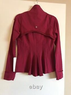 NWT Lululemon Define Jacket Shine on berry rumble SZ 8 Raspberry Pink Red
